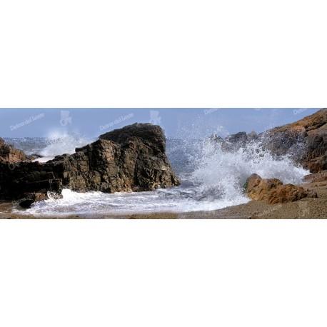 Panorámica rocas y el mar