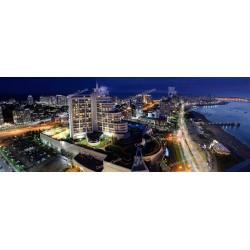 Panorámica nocturna de Punta del Este